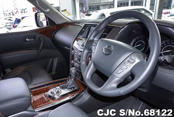 Inside front of Nissan Patrol 2018